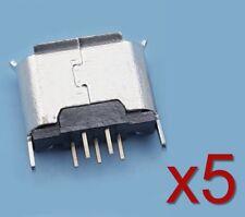 5x Connecteur à souder micro type B USB femelle 180°/ 5x Female connector solder