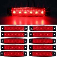 10X 12/24V 6Red Truck Trailer Lorry Car Bus LED Side Marker Indicator Light Lamp