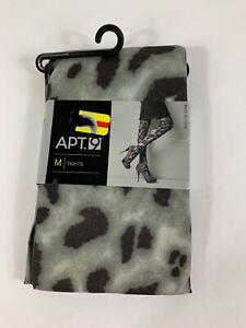 NEW Apt. 9  Medium Women's Gray Animal Print Tights