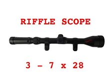 3-7X28 Air Rifle Scope 3-7x Zoom With Mounts 11mm Free Shipping