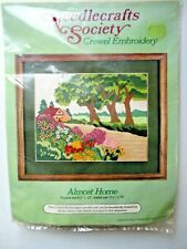 Almost Home Garden Landscape Crewel Embroidery Kit Needlecrafts Society