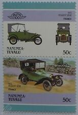1913 PEUGEOT BEBE Car Stamps (Leaders of the World / Auto 100)