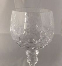 """NWT Set of 6 Rogaska GALLIA 8"""" Exquisite Crystal WINE Glasses/Stems Floral Etch"""