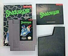 Shadowgate (Nintendo, 1989). Complete in Box. CIB. NES.