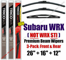 Wipers 3-Pack Premium Front Special Rear fit 2013+ Subaru WRX 19260/160/12B