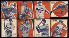 1937 WHEATIES BASEBALL CARDS SERIES 7~JOE DIMAGGIO ARKY VAUGHN~3/4 OF SET (8/12)