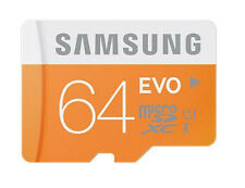 Samsung Evo 64GB micro SD SDXC Class 10 memory card with Free Adapter- UK SELLER