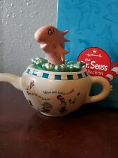 Hallmark Dr Seuss Collection The Fish In The Pot Teapot Porcelain Figurine 2001