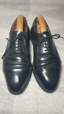 Grenson Uk 8 G Semi Brogue Oxfords Leather Mens Shoes