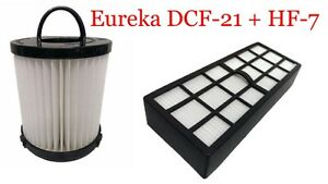 Filter Bundle DCF21 & HF7 HEPA Exhaust Filter for EUREKA Vacuum # 68931 & 61850