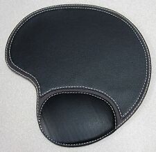 Executive Leatherette Black Mouse Pad with Wrist Rest Support Classy -PACK