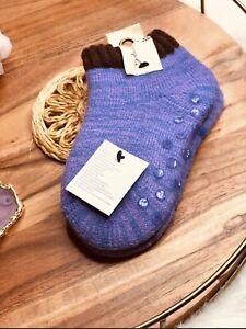 FREE PEOPLE Women's Two Tone Cozy Ankle Lounge Socks Lavender/Purple OSFM NWT