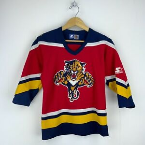 Florida Panthers Vintage Starter Jersey Size Small Red Nhl