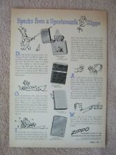 Vintage 1955 Zippo Sportsman's Windproof Cigarette Lighters Print Ad