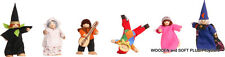 NEW wooden Toy flexible CASTLE DOLLS x6 Wizard Witch Fairy Musician Jester Cook