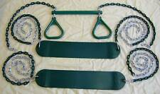 swingset swing kit, play set, 2 belt seats & trapeze,playground accessory,pvc54R