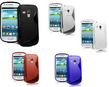 Pellicola + Custodia WAVE per Samsung I8190 Galaxy S3 mini case COVER S LINE TPU