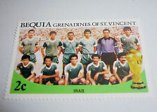 1986 FIFA World Cup Football MEXICO Bequia St. Vincent Grenadines Stamp IRAQ