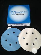 100 x HAMACH Schleifscheiben Dynamic Stickup klebend ∅ 150mm P180  6 Loch