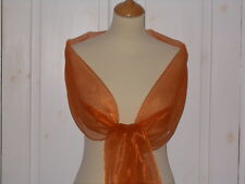 Ginger / Burnt orange shimmer Organza wrap/stole bridesmaid/ evening wear/ prom