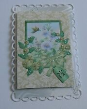 PK 2 HUMMING BIRD AND FLOWERS WITH LOVE EMBELLISHMENT TOPPERS FOR CARDS/CRAFTS