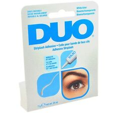 4 Pack DUO Eyelash Adhesive White/Clear 0.25oz 7g For Strip Lashes #568034