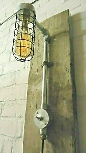 Vintage/Retro Factory Post Industrial Style Bulkhead wall Lamp (PAT tested)