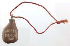 Vintage Swifts Premium Ham Bakelite Keychain Fob Advertising Promotional R154