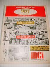 1972 MACHINERY CENTER . CRUSHERS , ORE BINS , MINE CARS , EQUIPMENT ,GOLD MINING