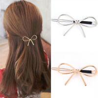 Vintages Hairpins Metals Bows Knots Hairs Barrettes Girls Women Hair AccessorPY