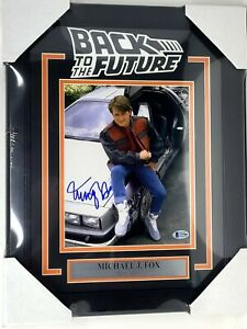 """MICHAEL J FOX Signed Auto """"BACK TO THE FUTURE"""" 8x10 Photo Beckett BAS Framed"""