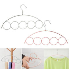 5 Holes Scarf Wraps Shawl Anti-slip Plastic Hanger Organizer Slot Rope Holder