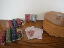 2005 Longaberger basket combo Dealers Choice Bunco Poker chips, lid, cards, etc