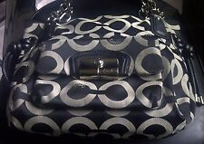 Authentic COACH Kristin OP Art EW Tote Shoulder Bag Purse 14768 Black