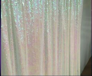 2 Panels 2ftx6ft Gold Sparkly Sequin Curtain Potography Backdrop Wedding