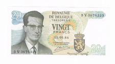 """20 Frank/Franc  type  """"1964""""  Atomium   15.06.1964   Morin 30c    UNC"""
