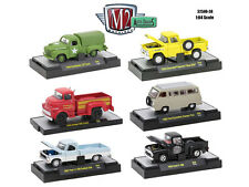 AUTO TRUCKS 6 PIECE SET RELEASE 38 IN ACRYLIC CASES 1/64 BY M2 MACHINES 32500-38