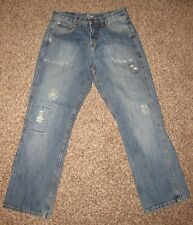 URBAN PIPELINE Men's Size 30 x 30 Vintage Straight Fit Distressed Blue Jeans