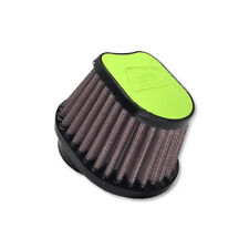 DNA Special Oval Green Leather Top Air Filter, In: 50mm, L: 87mm, OVI-5000-L-GR