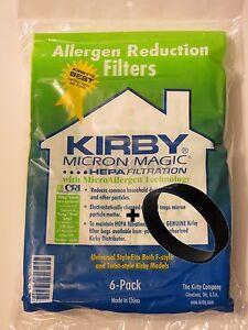 KIRBY Genuine UNIVERSAL FIT MICRON MAGIC PK(6)+2 Non Genuine BELTS