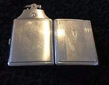 Lighter and Cigarette Case Vintage  Double Decker  Combination by Ronson