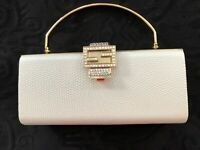 Evening Clutch Bag With Fold Away Handle