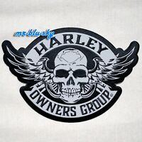 Small Reflective Winged Skull Patch ~ Harley Davidson Owners Group HOG H.O.G.