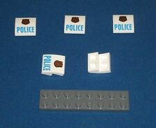 LEGO NEW 2x2x0.66 White Slope Curved Police Decoration (5x) 6132740 Brick 15068