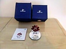 Rare Boxed Swarovski Large Red Roses with Signed Mirror Stand & Certificate