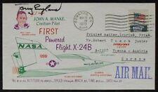 s1265) Raumfahrt Space Tony England Autograph cover First Powered Flight X-24 B