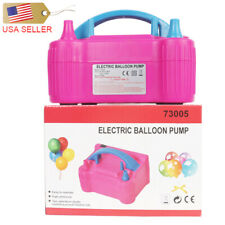 Portable Birthday Party Pink Double Electric Balloon Air Pump Inflator 110V Us