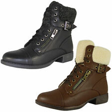 No Pattern Lace Up Block Ankle Women's Boots