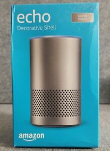 Amazon Echo Decorative Shell - Fits Echo 2nd Gen Only - silver finish