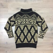 80's Vintage Pierre Cardin Gold Lame Sweater L Large Made in Usa Cotton Metallic